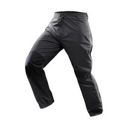 男款防水登山健行雨褲TREK500-灰色