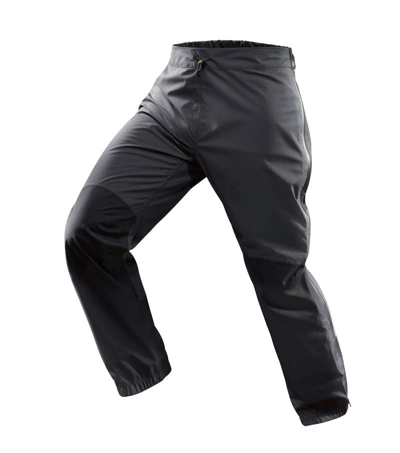 MEN WATERPROOF JACKET & OVERTROUSER MT Hiking - M OVER-TROUSERS TREK 500 GREY FORCLAZ - Hiking Clothes
