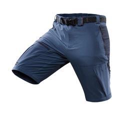 Pantalón Desmontable de Montaña y Trekking Forclaz Trek 500 Hombre Azul