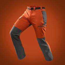 男款登山健行長褲TREK 500-棕色