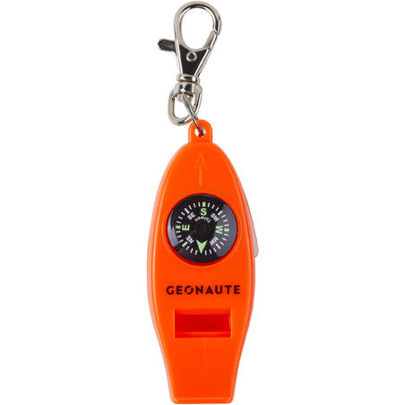 50 MULTI-PURPOSE WHISTLE AND ORIENTEERING COMPASS - MULTICOLOUR
