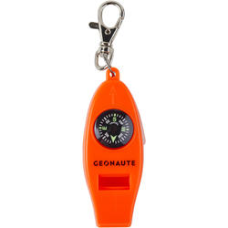 Multi-Purpose Whistle with Built-In Compass, Thermometer, and Magnifying Glass