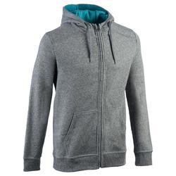 900 Hooded Gym & Pilates Jacket - Light Grey/Blue