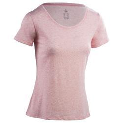 510 女性常規版短袖健身運動T恤 – 亞麻粉紅色
