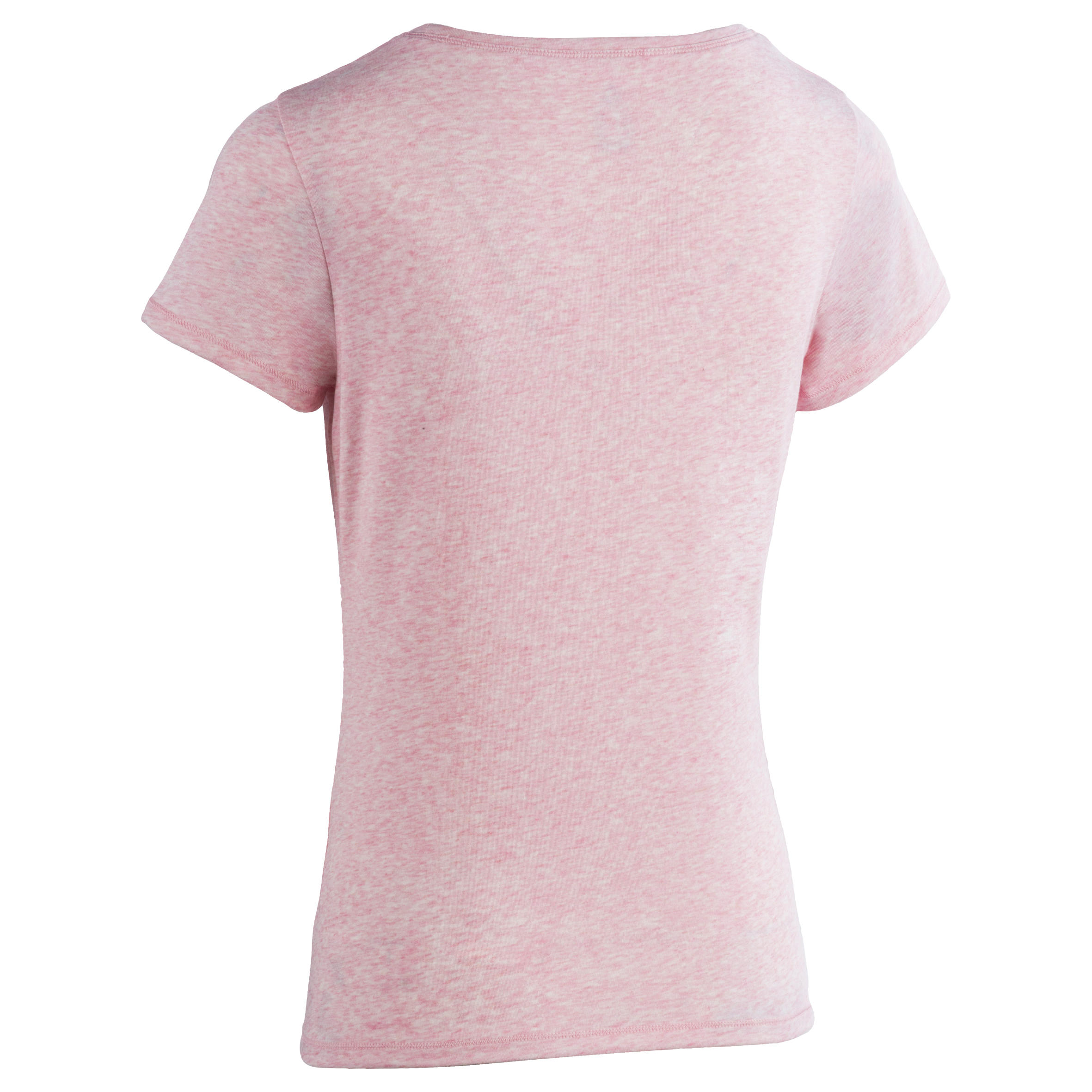 510 Women's Regular-Fit Short-Sleeved Gym & Pilates T-Shirt Light Heathered Pink