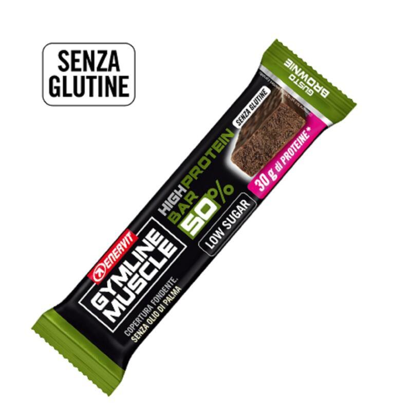 Barretta Proteica Enervit Gymline Muscle 50% Brownie Gluten Free 60g