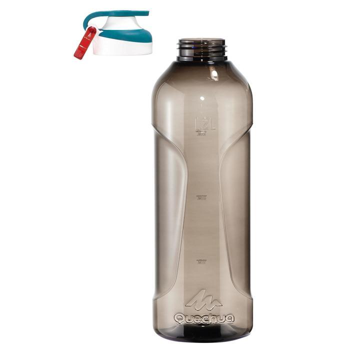 Gourde randonnée 500 bouchon ouverture rapide 1,2 litre plastique (Tritan) noir - 1329456