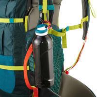 Gourde randonnée 500 bouchon ouverture rapide 1,2 litre plastique (Tritan) noir