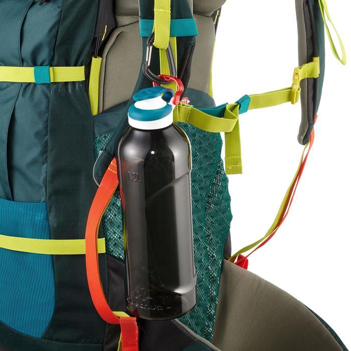 Cantimplora Montaña Quechua 500Tapón Apertura Rápida 1,2L Plástico(Tritan)Negro