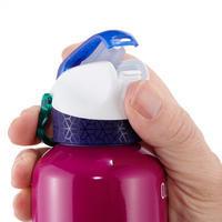 Ljubičasta boca od aluminijuma za planinarenje 900 sa čepom i usnikom (0,6 L)