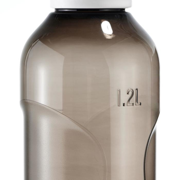 Cantimplora senderismo 500 tapón apertura rápida 1,2 L plástico Tritán negra
