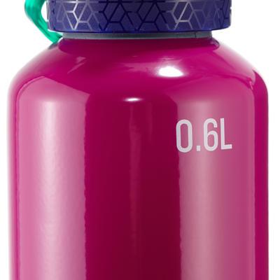 900 0.6L Quick-Opening Aluminium Hiking Bottle - Purple