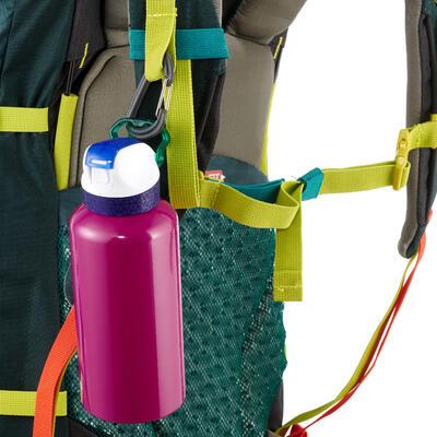Cantimplora excursionismo 900 tapa instantánea con pitillo 0,6 L aluminio Rosado