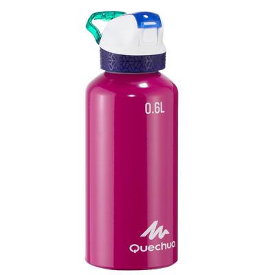 בקבוק טיולים מאלומיניום 900 כולל פקק מהיר עם קשית 0.6 ליטר - סגול