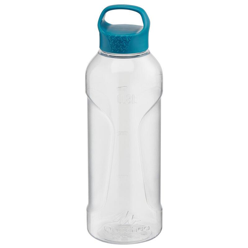 Cantimplora Botella Plástico 0,8 L Quechua Senderismo Tapón Rosca
