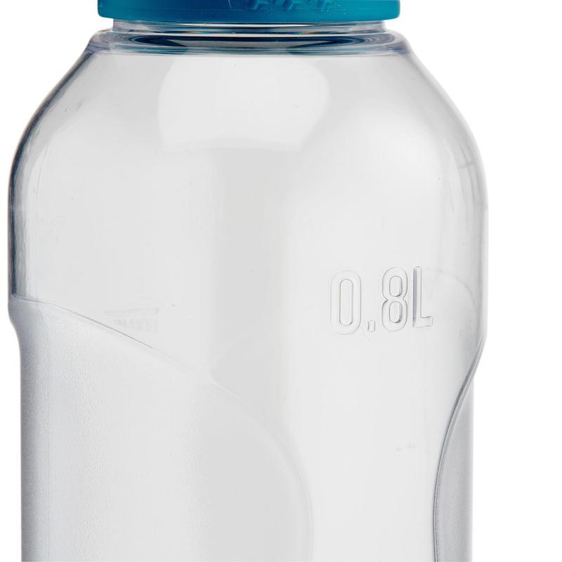 Cantimplora de senderismo 100 con tapa de rosca 0,8 L de plástico Tritán