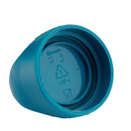 Cantimplora Camping Senderismo Quechua 100 Azul Plástico Tapón Rosca 0,8 L