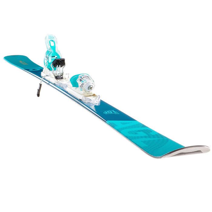 搭配150固定器的女款雪道雙板滑雪板 - 藍色