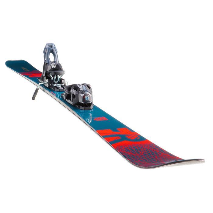 Skiset voor freeride FR 500 petroleumblauw/oranje