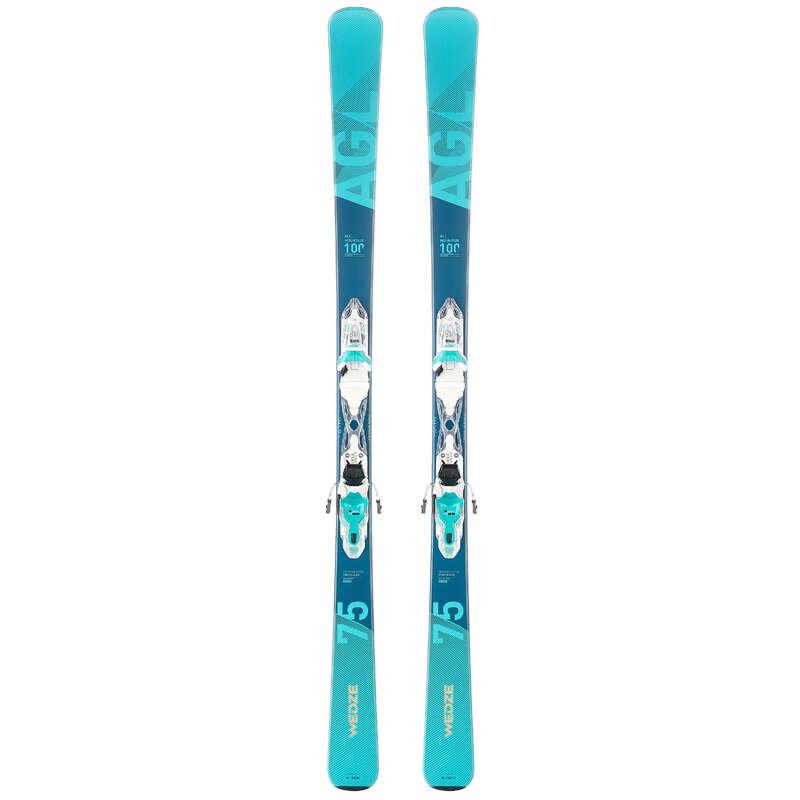 SCI E BASTONCINI DONNA PRINCIPIANTE Sci, Sport Invernali - Sci pista donna 150 azzurri WEDZE - Attrezzatura sci