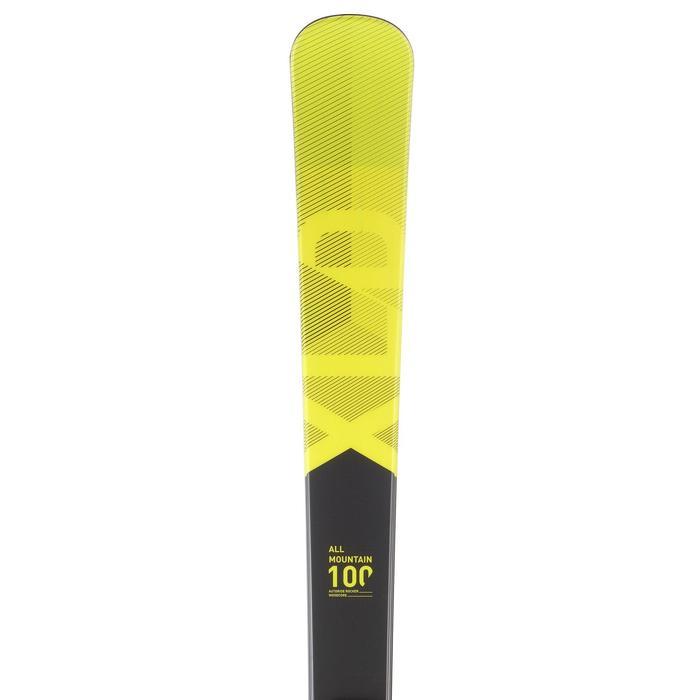 搭配150固定器的男款雪道雙板滑雪板 - 黃色