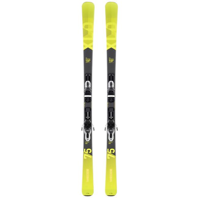 MEN'S ON-PISTE SKIS WITH 150 BINDINGS - YELLOW