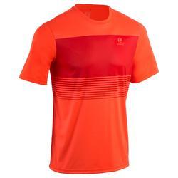 Tennisshirt voor heren Soft 100 fluo-oranje
