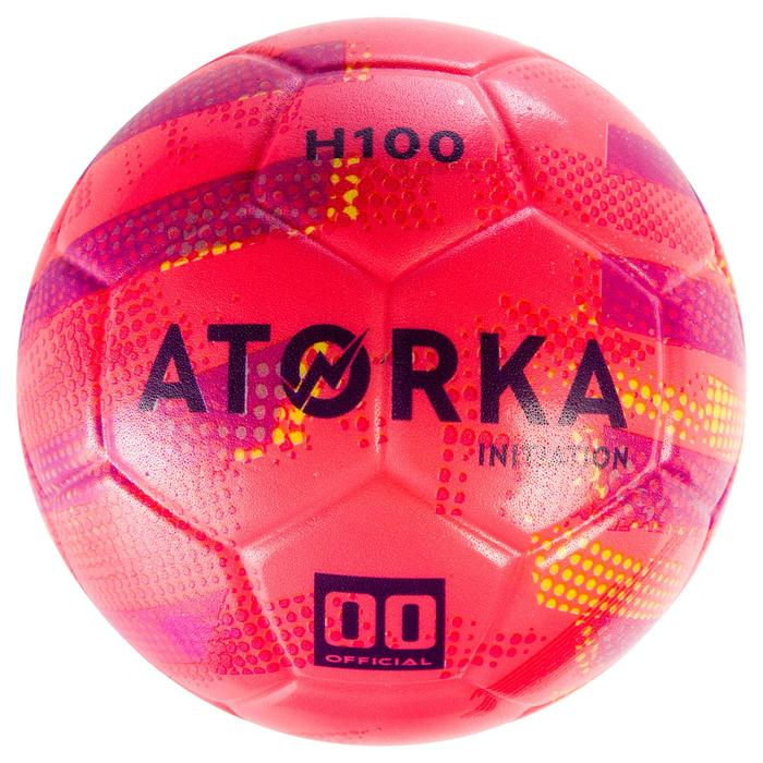 Ballon de handball d'initiation enfant H100 rose / violet