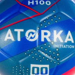 Ballon de handball d'initiation enfant H100 bleu / jaune