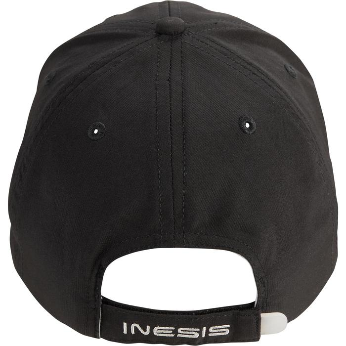 Gorra de golf transpirable negra para adulto