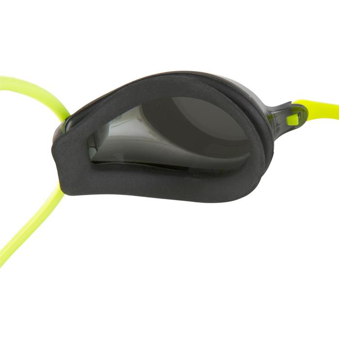 Zwembrilletje voor kinderen Tracks zilver groen spiegelende glazen