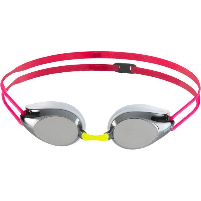 Schwimmbrille Tracks Kinder rosa verspiegelt