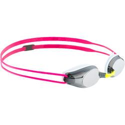 Zwembril voor kinderen Tracks roze spiegelglas