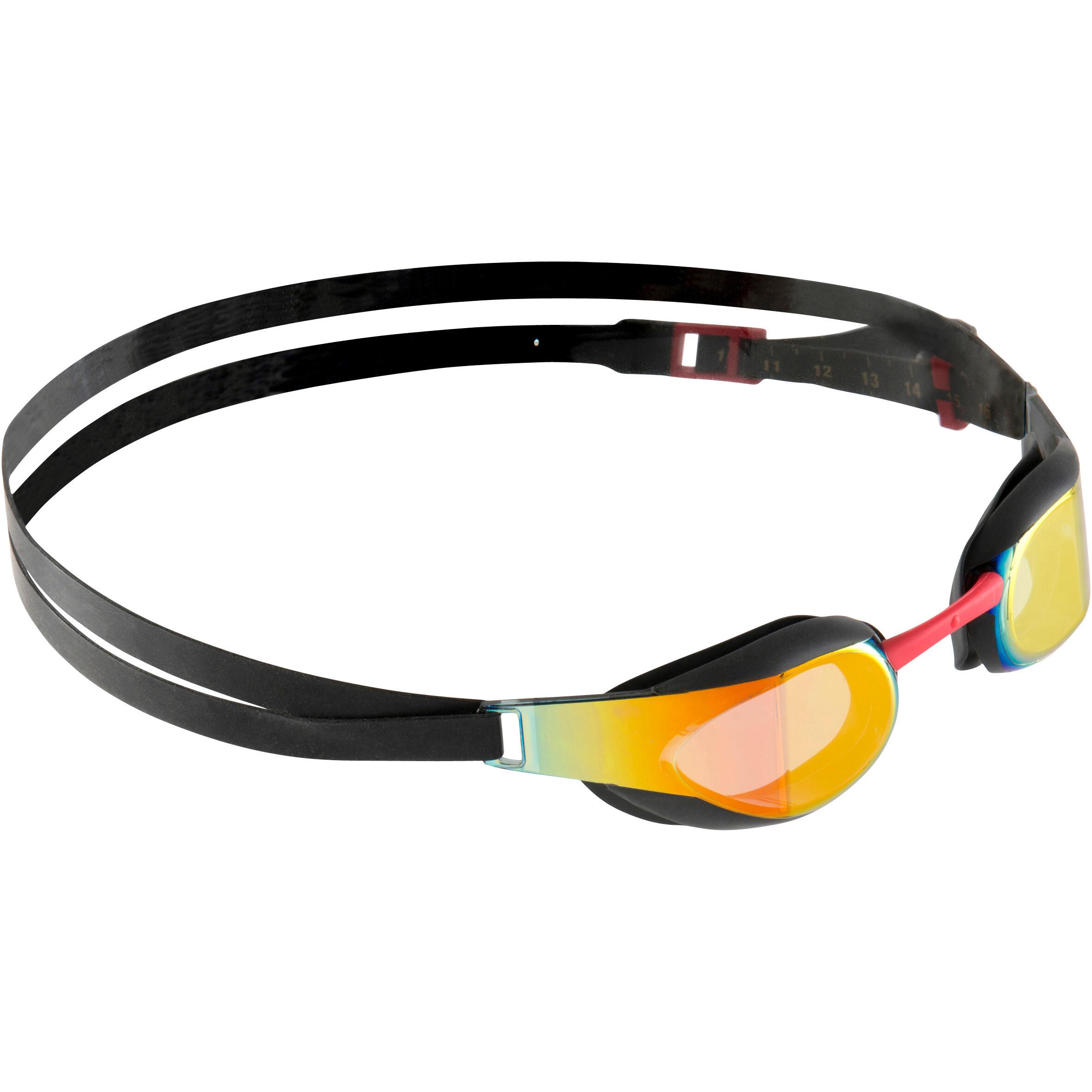 Speedo Zwembril Fastskin Elite spiegelglas zwart