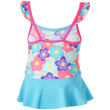 55bf284f58 Baby girls' one-piece swimsuit with skirt flowers print. LOW STOCK