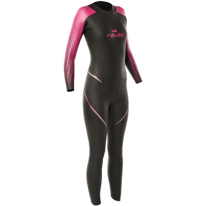 Combinaison natation néoprène OWS 900 4/2mm femme eau froide - 1330292
