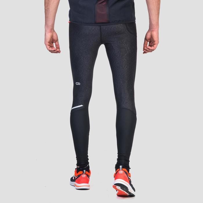 Mallas Leggins Deportivos Running Kalenji Run DRY+ Hombre Negro Print