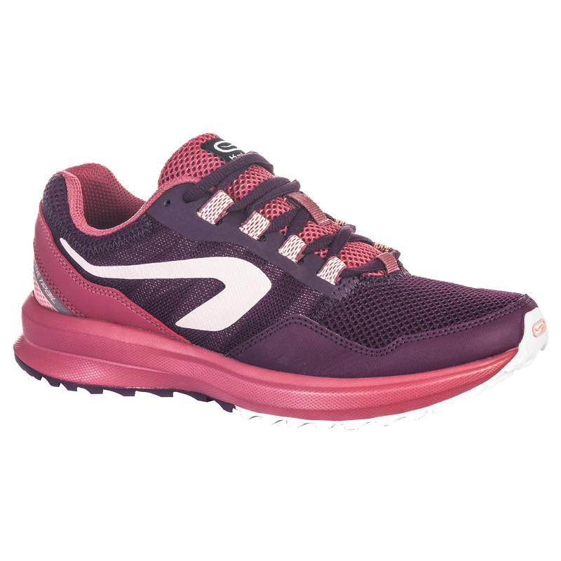 รองเท้าวิ่งจ็อกกิ้งสำหรับผู้หญิงรุ่น RUN ACTIVE GRIP (สีม่วง BURGUNDY)