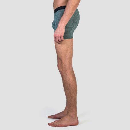 MEN'S BREATHABLE RUNNING BOXERS - MOTTLED GREEN