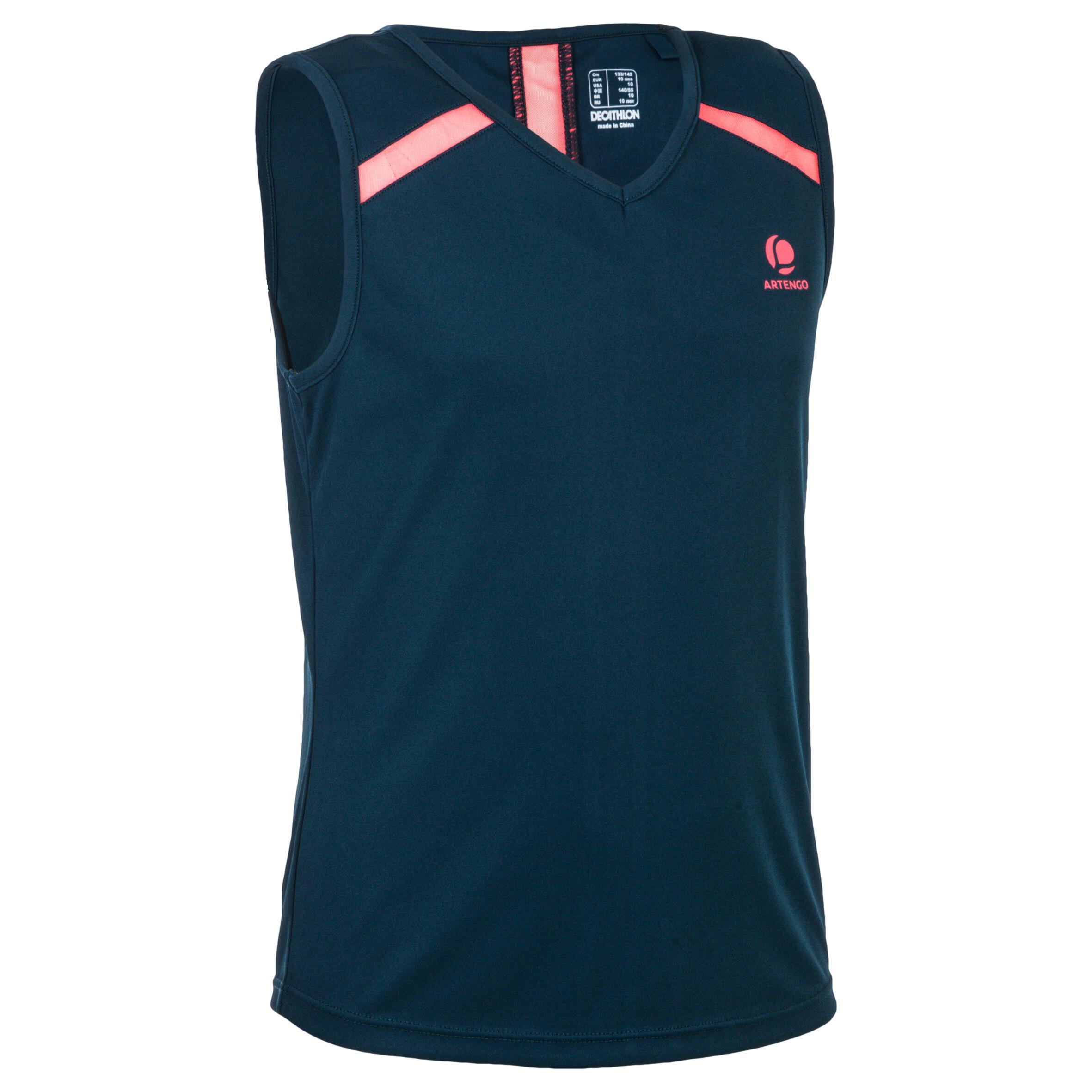 Artengo T-shirt 900 meisjes petroleumblauw