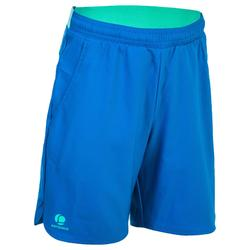 Tennis-Shorts 500 Kinder blau/grün