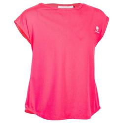 T SHIRT 500 FILLE ROSE