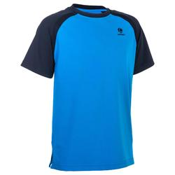T-shirt 500 jongens blauw