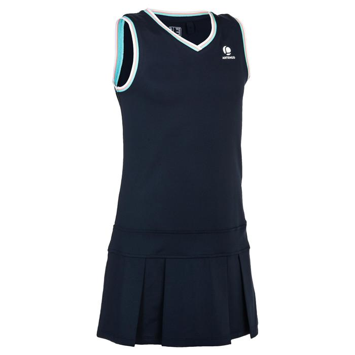 Jurk 500 meisjes marineblauw - 1330385