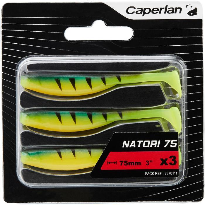 Gummiköder Natori 75 Fire Tiger 3 Stück zum Spinnfischen