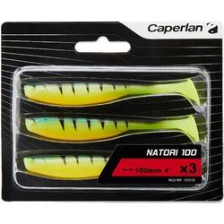 Gummiköder Natori 100 Fire Tiger Spinnfischen 3 St.