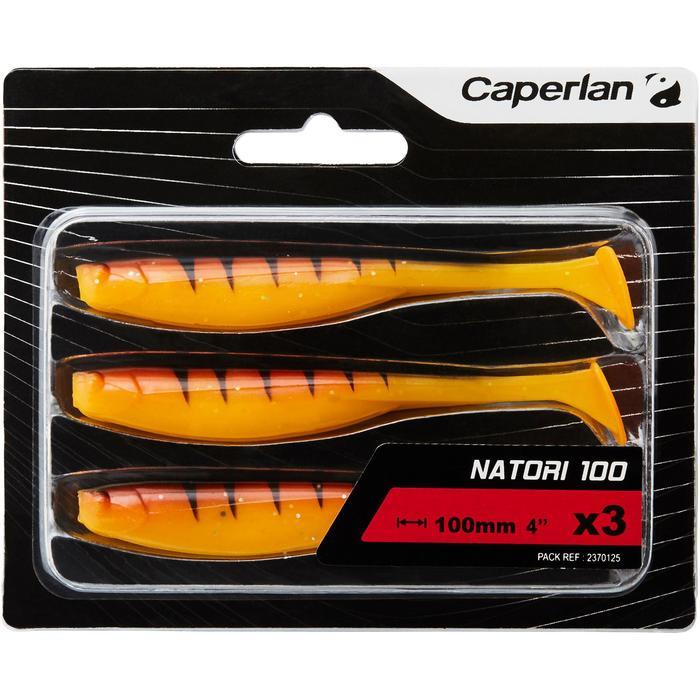 Softbaits voor kunstaasvissen Natori 100 oranje tiger 3 stuks