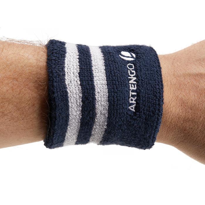 Polsband gestreept marineblauw wit