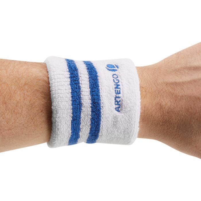 Polsband gestreept wit blauw