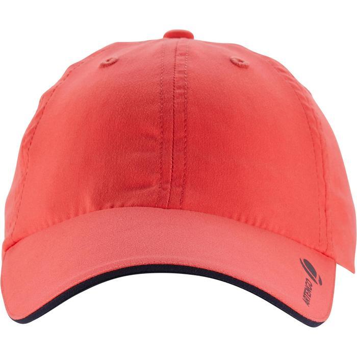 Schirmmütze Tennis-Cap Schlägersport Kinder korallenrot